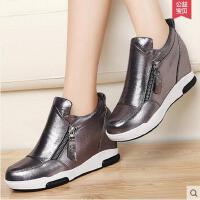 古奇天伦 内增高女鞋运动鞋 新款坡跟单鞋韩版休闲低帮鞋子8325