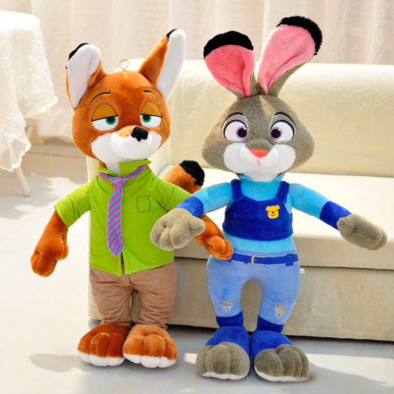 爱美达毛绒玩具疯狂动物城狐狸尼克兔子朱迪公仔布娃