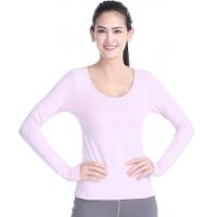 瑜伽服 休闲运动 新款长袖中长袖瑜珈健身服 上衣 女