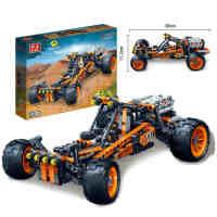 邦宝积木儿童玩具高科益智拼装积木玩具拼装车赛车模型炫影追风号,减震装置 创意拼装 ABS塑料