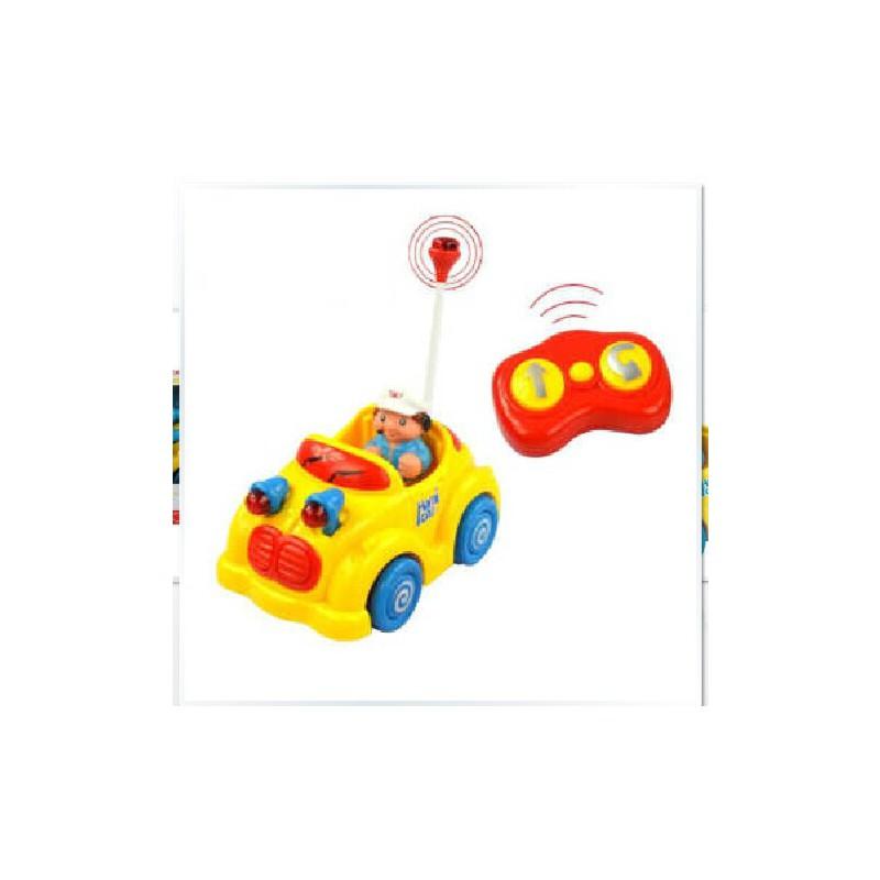 五星玩具遥控音乐汽车 儿歌灯光音乐红外线遥控益智卡通车37789