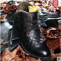 古奇天伦男鞋真皮商务休闲鞋百搭舒适男士皮鞋 加绒耐磨爸爸鞋5562