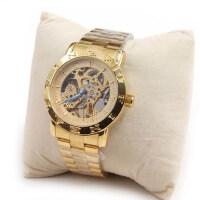 高档全金色镂空自动机械手表 商务男士手表 时尚男表
