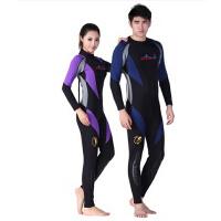 新款  时尚舒适浮潜衣 冬泳衣 男女连体长袖保暖潜水衣  潜水服