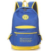 韩版双肩包女中学生书包女生双肩书包帆布旅行包电脑背包学院风潮