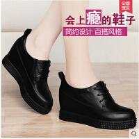 古奇天伦新款防水台低跟厚底女单鞋内增高韩版低帮鞋8147