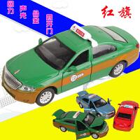 万宝宝马M6出租车 的士合金汽车模型仿真玩具车 儿童玩具声光回力