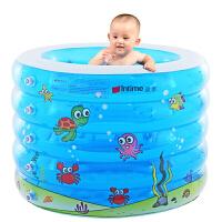 盈泰(intime) 婴儿游泳池五环印花泳池 圆形充气浴盆洗澡桶宝宝加厚浴缸