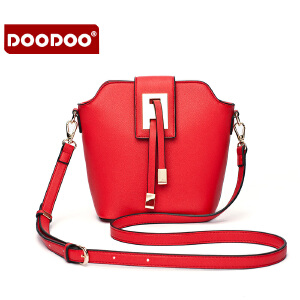 DOODOO 2017新款时尚包包女包欧美甜美糖果色单肩斜跨女士小包包 D5168 【支持礼品卡】