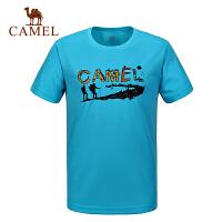 camel骆驼户外速干T恤 情侣款春夏透气快干衣短袖T恤