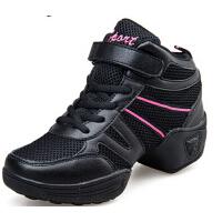 新款女增高广场舞蹈鞋时尚跳舞鞋百搭软底健身舒适鞋子