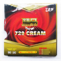 运动比赛乒乓球拍 反胶套胶729精品CREAM正手用
