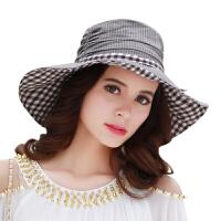 CACUSS优雅沙滩帽遮阳帽女女士甜美气质帽帽子夏天女帽C0052