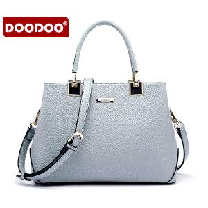 【支持礼品卡】DOODOO 2017新款时尚女包欧美风简约女款手提单肩斜跨女士包包 D5072