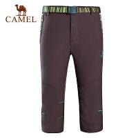 camel骆驼户外男款速干七分裤裤 时尚快干速干男裤