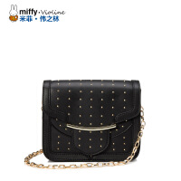 Miffy米菲 2016女包斜挎包链条小包包 潮女铆钉单肩斜跨迷你包小方包