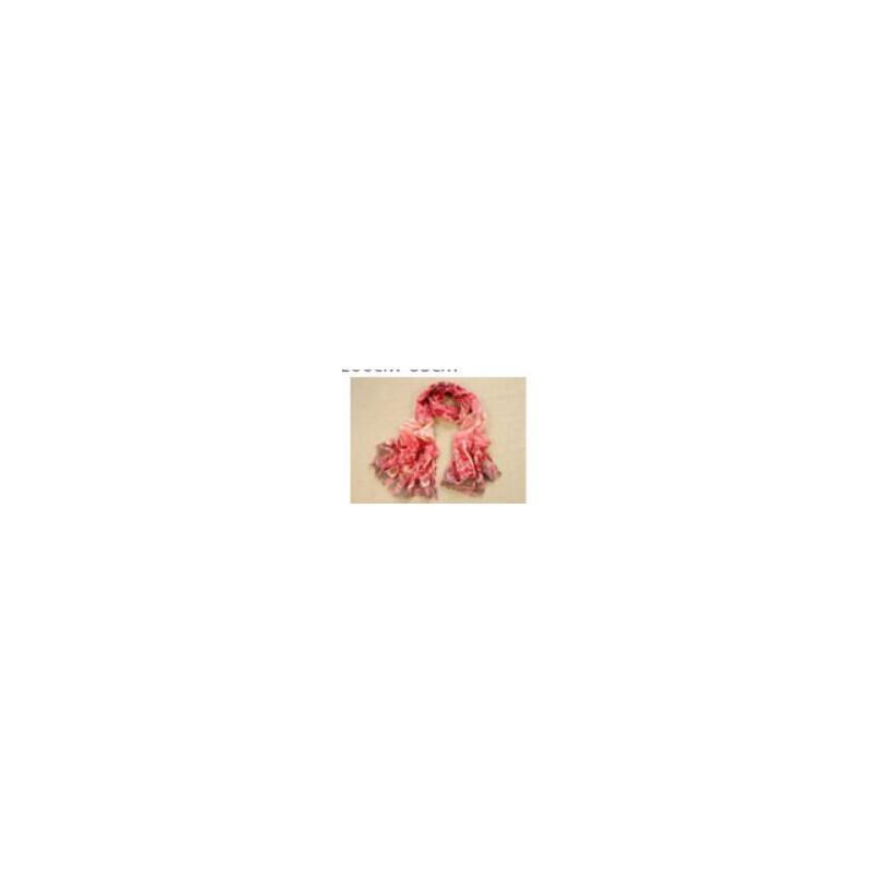 图腾印章 含金葱 羊毛印花 长款围巾披肩两用 韩_粉色