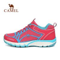 camel骆驼户外女款徒步鞋 透气防滑减震女士运动鞋