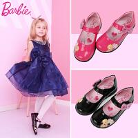 芭比童鞋 女童皮鞋2017夏季新款3-18岁儿童皮鞋中小童公主鞋表演舞蹈单皮鞋