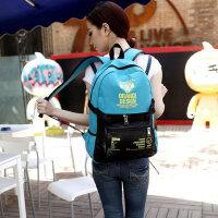 韩版双肩包女中学生书包女生双肩书包帆布旅行包电脑背包学院风