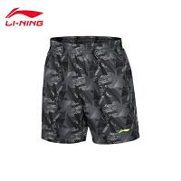 李宁男子夏季训练系列速干平口运动短裤运动服AKSL207
