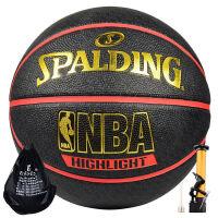Spalding斯伯丁73-904Y篮球NBA室外内用耐磨篮球lanqiu83-195Y