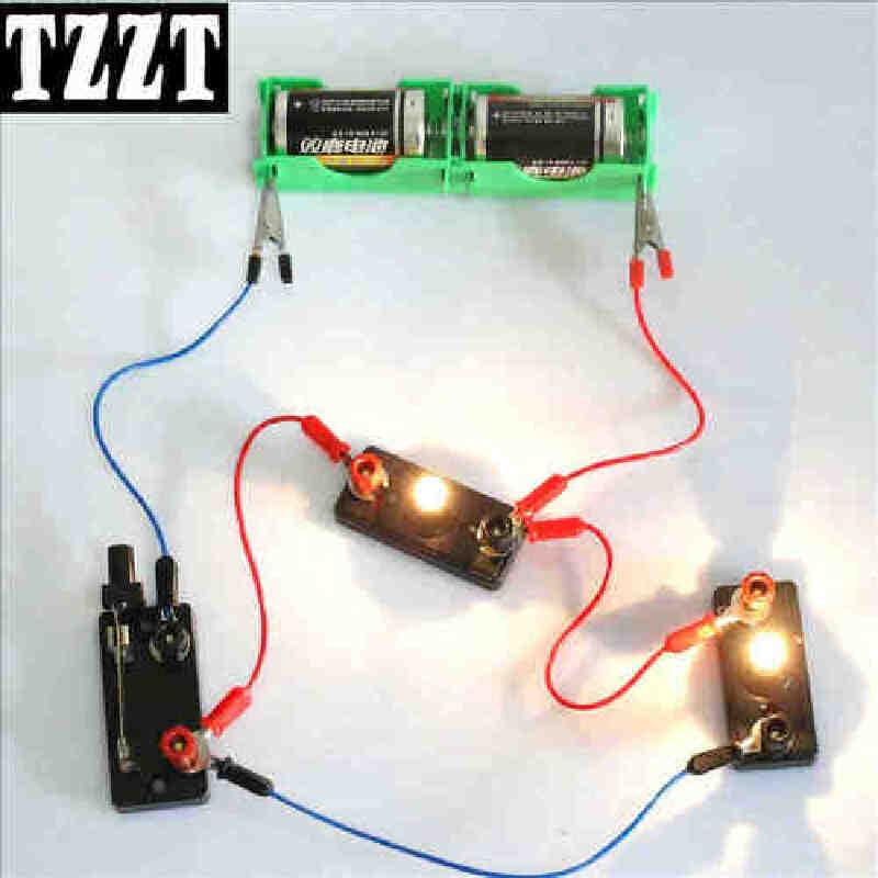 【威艾斯科教/实验】简单电学电路闭合导线小灯座小