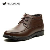 富贵鸟正装高帮棉鞋 加绒保暖男鞋 商务正装皮鞋办公室鞋D406105