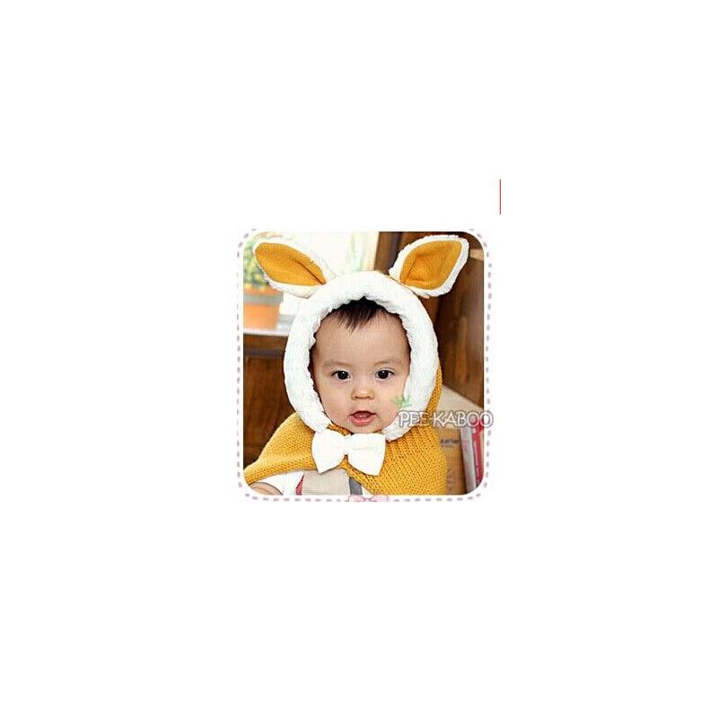 可爱男女宝宝帽子 儿童帽子 男女宝宝 保暖帽 披风精灵帽婴儿帽子