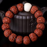 缘饰传说 藏式五瓣金刚菩提子佛珠手串 单珠18mm菩提根佛头 男女款佛珠手链