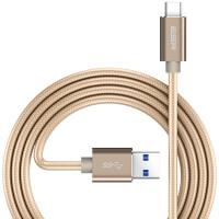 【当当自营】 ESR亿色 Type-C数据线?USB3.0/3.1Gen1安卓手机充电线?适用华为P9/荣耀V8/小米5s/乐视/魅族?编织款-香槟金