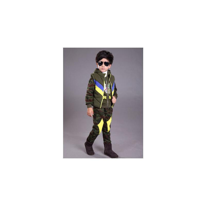 儿童奥特曼童装冬装 加厚恐龙小怪兽卫衣套装 男孩卡通三件套服装