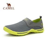 camel骆驼户外男款徒步鞋 春夏新款运动透气网鞋套筒徒步鞋