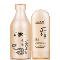 L'OREAL欧莱雅 致臻修护洗发水250ml+护发素150ml洗护套装 专业洗护 深层修护染烫受损发质