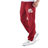 加厚运动裤男长裤加绒收口跑步裤训练裤针织休闲卫裤