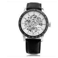 新款个性休闲时尚复古表 男士镂空全自动机械表男表韩版全黑色手表