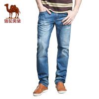骆驼CAMEL 男装 春季新款牛仔裤 男士中腰薄款牛仔长裤时尚休闲男装