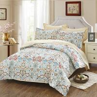 当当优品家纺 纯棉斜纹印花床品 双人加大床单四件套 梵蒂卡