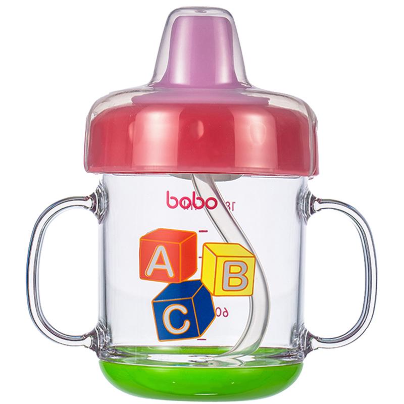 【当当自营】乐儿宝(bobo) 软嘴学饮杯180ml 红色IBB333-R