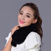 新款皮草围脖女士保暖獭兔毛围巾可爱韩版短款加厚围巾