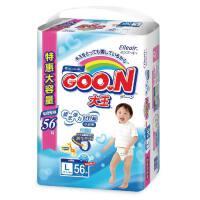 [当当自营]GOO.N大王 婴幼儿用短裤式纸尿裤 拉拉裤 尿不湿(男宝宝)L56片(适合9-14kg) 电商装