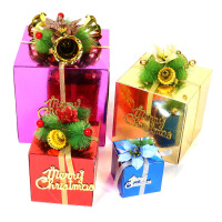 圣诞节礼盒包装盒 圣诞装饰品圣诞用品圣诞礼品 圣诞礼包 礼物盒