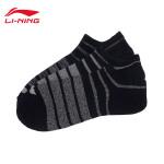李宁训练运动短袜船袜浅口袜运动袜三双装AWSL053