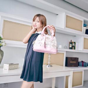 Miffy米菲 女士贝壳包小包手提包2016春夏新款时尚潮流定型贝壳手提包