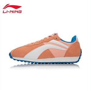 李宁女子运动生活系列真皮经典休闲鞋运动鞋ALCL066