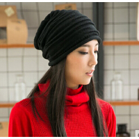 新款时尚女款韩版潮流女帽子休闲针织帽堆堆帽套头帽
