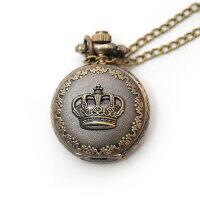复古表 皇冠图案挂表项链表 石英女士手表怀表时尚女表