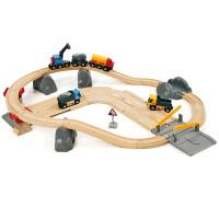 [当当自营]BRIO 石矿场轨道套装 儿童益智拼插木制轨道小火车玩具 BR33210