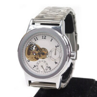男士自动机械手表 半镂空男表 男士时尚手表 钢带腕表