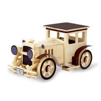 孩派 3D木质立体拼图 智力玩具DIY益智拼装模型 飞机模型航模车模